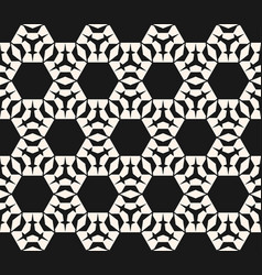 ornamental geometric texture with hexagons vector image vector image