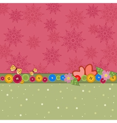 romantic background with butterflies and valentine vector image vector image
