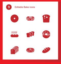 9 bake icons vector