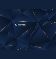 abstract luxury golden line with classic blue vector image