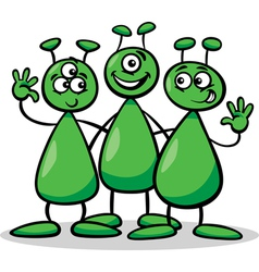 aliens or martians cartoon vector image