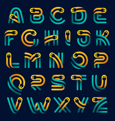 Alphabet with plug cable inside vector