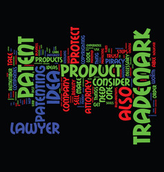 Attorney trademark patent text background word vector