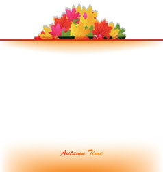 Autumn leaves border design vector image