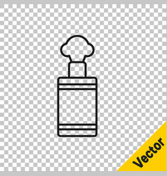 black line hand grenade icon isolated on vector image