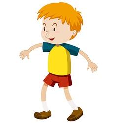 Boy with happy face vector image vector image