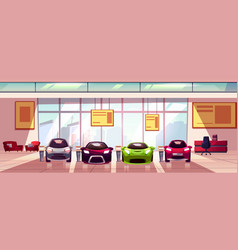 Car showroom background auto dealership vector