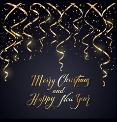 Christmas and new years tinsel on dark background vector