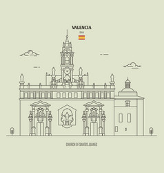 church santos juanes in valencia spain vector image