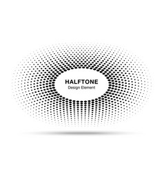 Circle frame halftone dots logo design element vector
