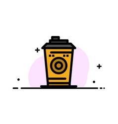 Coffee mug starbucks black coffee business flat vector