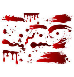 collection various blood vector image