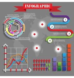 Colorful futuristic infographics vector
