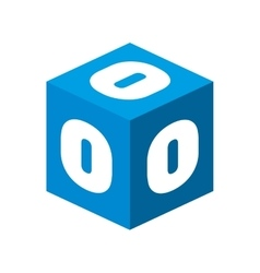 Cube number block graphic vector