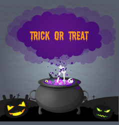dark halloween party scary poster vector image