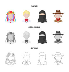 Design of imitator and resident icon vector