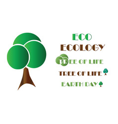 ecology logo - tree - earth day vector image