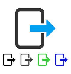 Exit door flat icon vector