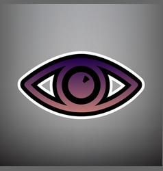 eye sign violet gradient vector image