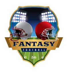 Fantasy Football Badge Emblem vector