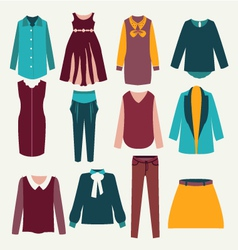 fashion flat female clothing vector image