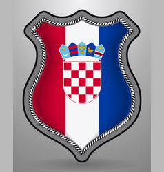 Flag of croatia badge and icon vector