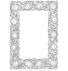flower frame Retro vintage gothic style Vintage vector image