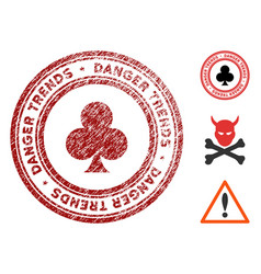 gambling danger trends stamp with grunge effect vector image