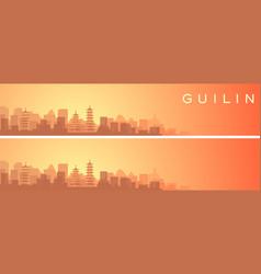 Guilin beautiful skyline scenery banner vector