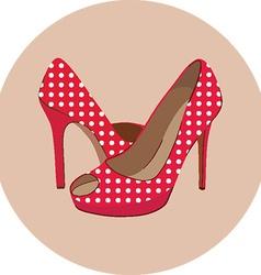 High heel icon vector image