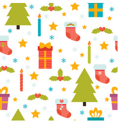 holidays background with christmas tree vector image