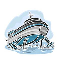 Hydrofoil ship vector
