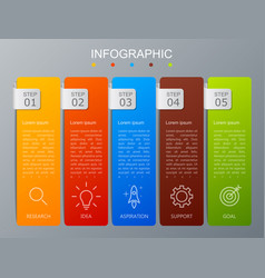 Infographic design and marketing icons modern vector
