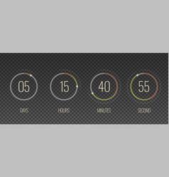 interface countdown transparent set vector image
