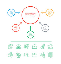 Investments visualization vector