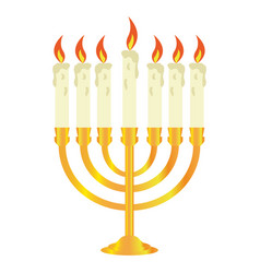isolated golden candlestick vector image