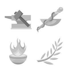Isolated object ancient and culture sign set vector