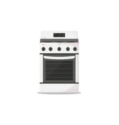 Kitchen stove flat style vector