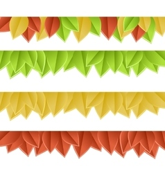 leaves on white vector image