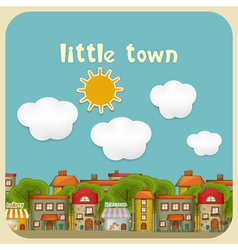 Little Town Color Houses vector