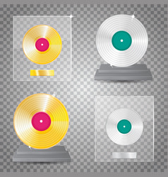 Lp platinum lp gold set vector