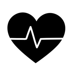 medical heartbeat cardiology health care isolated vector image