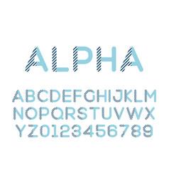 modern stylized font alphebet vector image