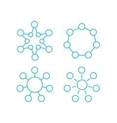 molecule formula hormone structure vector image