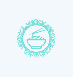 Noodles icon sign symbol vector