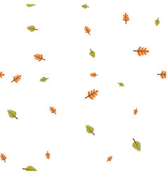 oak and birch leaves pattern seamless vector image