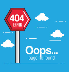oops page no found concept vector image