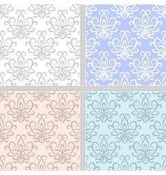 Pastel ethnic seamless pattern set vector image