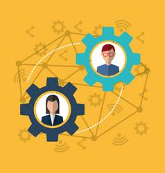 people internet solution work world vector image