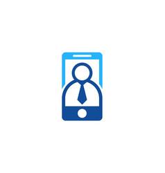 people mobile logo icon design vector image